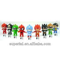 wholesale PVC batman Captain America cartoon pendrive cartoon 4gb 8gb 16gb