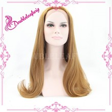 On sell hair wig blonde lacefront wig belle madame geman synthetic hair wig