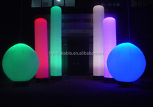 2015 led light inflatable tube/inflatable decoration tube LED light for party/inflatable LED pillar