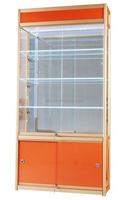 Wholesale china factory aluminum alloy 100*35*200cm office furniture metal glass display cabinet in showroom