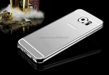 Luxury metal mirror back cover for samsung galaxy s6 case /luxury aluminum case for samsung s6 with mirror back cover