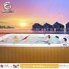 Outdoor acrylic shell spa pool balbao swim spa for garden