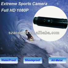 20M Waterproof 1080P Full HD Mini Snorkeling Camera Bullet Style FOR MTB Motorcycle Parachuting,Extreme Sports