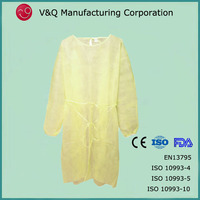 Factory Size M 30g nonwoven protective gown disposable