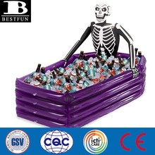 Halloween inflatable skeleton cooler beer bottle can coolers customized inflatables