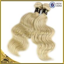 Hot sale!!Victoria Secret exclusive hair ,100 human virgin white blonde hair weave