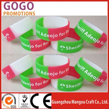 Eco-friendly Material Cheap Custom Silicone wristband for promotional Gift, Promotional hot sale one inch wide silicon wristband