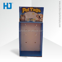 Pos Pets Food Cardboard Display Units With Flooring Hooks Hanging Display Rack