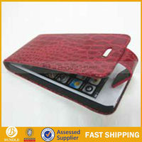 Popular Flip Leather Case for iPhone5 (Red)