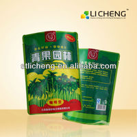 food grade three side seal bag resealable stand up pouch