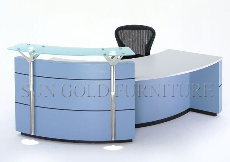 2015 hot sale new design used tanning salon reception desk