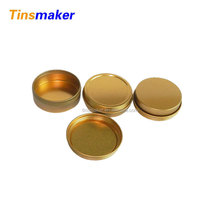 gold screw tin boxes, airtight round tin box