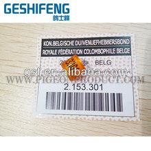 2016 BELG cinturón ( BE16 ) anillo con tarjetas certificado para racing palomas vender en línea