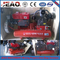 Portable Small Diesel Mining Air Compressor Uesd For Zimbabwe Gold Mining/Pneumatic Jack Hammer Air Compressor