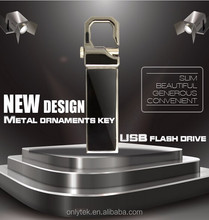 16GB Creative Waterproof Metal USB Pen drive with Keychain for Promotional Gifts
