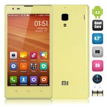 4.7 Inch Xiaomi Redmi 1S Hongmi 1S WCDMA MIUI V5 Android 4.3 Snapdragon 400 Qualcomm MSM8228 Quad Core 1G 8G Dual Camera Phone