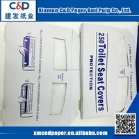 China Wholesale Custom Factory Price Travel Pack Disposable Paper Toilet Seat Cover