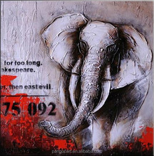 new design big size abstract animal Elephant Oil painting on canvas for livingroom Decoration