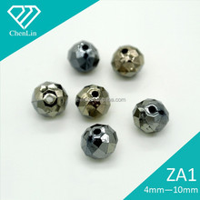 ZA1 round AB black faceted sew on acrylic rhonestones beads shoe garment decorative DIY craft fittings