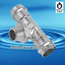 304/316 Stainless steel Male threaded tee