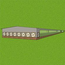 Cheap prefabricated container poultry farm cool pad