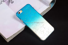 New products 2015 innovation product Gradient Raindrops Plastic Back Cover hard pc case for iphone 6 plus made in china
