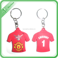 100% Manufacturer for cheap promotion soft rubber pvc keyring