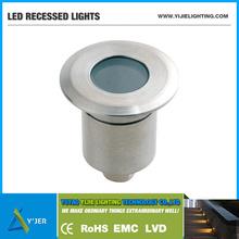 YJQ-0024 IP67 PF0.9 RGB low power 1W min round recessed light LED Wall Washers