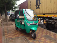 Electric auto rickshaw with three wheel for passenger use