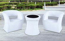 Wicker Garden Furniture Sets / PE White Wicker Sofa Sets