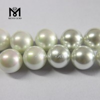 Good Polishing Smooth Round White Glass Pearl