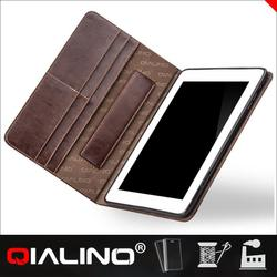 2015 Top quality genuine leather cover for ipad air 2 case for ipad