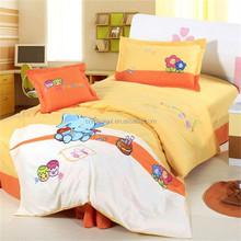 Pink cute kids big eyes bear dubai bed sheet set duvet cover 4pcs