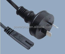 Wholesale H03VVH2-F Australia 2 Prong Ac Power Cord with IEC C7 plugs