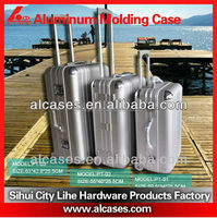 aluminum colorful hard shell luggage