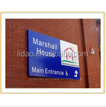 lidao Aluminum Building Wall Mounted Sign Plate/Company Name Sign Plate