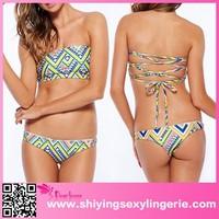 2015 Fashion Summer Geometric Pattern Bikini Swimwear hot photo