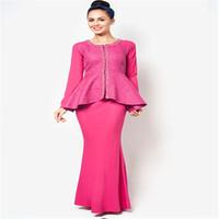 2014 New design Jacquard Motif Peplum Baju Kurung