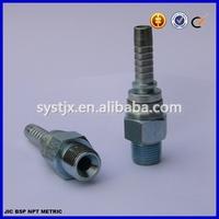 Hydraulic carbon steel NPT hose nipple, NPT male