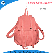 College girls cool natural fashionable cheap leather backpack