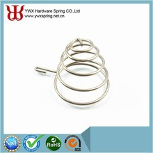 China made electronic equipment nickel-plating steel conical compression spring