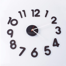 fashion creative EVA foam DIY wall clock watch