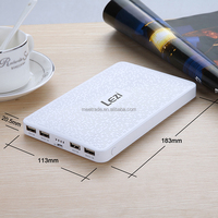 polymer battery power bank 4USB ultra large capacity mobile power 50000 Ma mobile phone general