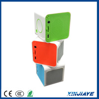 XINJIAYE Wireless Bluetooth Portable Mini Small Squares Hand-Free Speakers with TF/SD Slot