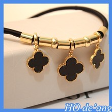 2015 summer new European and American Zinc Alloy classic luxury four-leaf clover necklace MHo-096