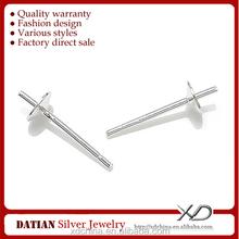 XD P043 925 sterling silver earring findings 3mm ear post make your own earrings