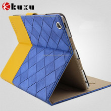 New design luxury double color leather folio case for ipad 6