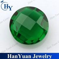 china cheap glass beads green round cut stones