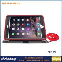pc + tpu + silicone combo case for ipad mini crystal plastic case