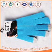 2015 Hot Selling Knit Simple Color Gloves